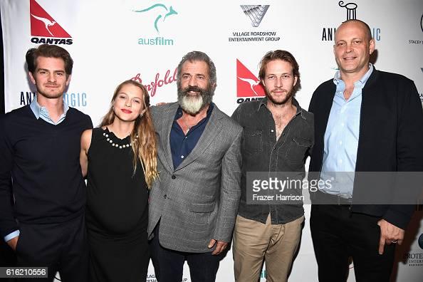Andrew Garfield Teresa Palmer Mel Gibson Luke Bracey Vince Vaughn attend Australians In Film Presents 'Hacksaw Ridge' Screening and QA With Mel cast...