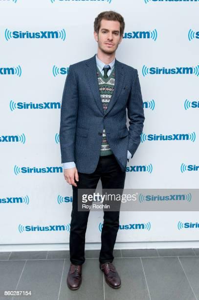 Andrew Garfield visits SiriusXM Studios on October 11 2017 in New York City