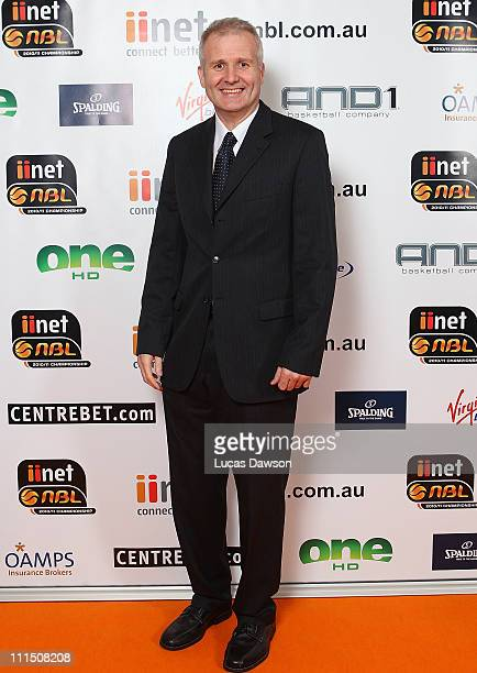 Andrew Gaze arrives at the 2011 NBL/WNBL Awards Night at Crown Palladium on April 4 2011 in MelbourneAustralia