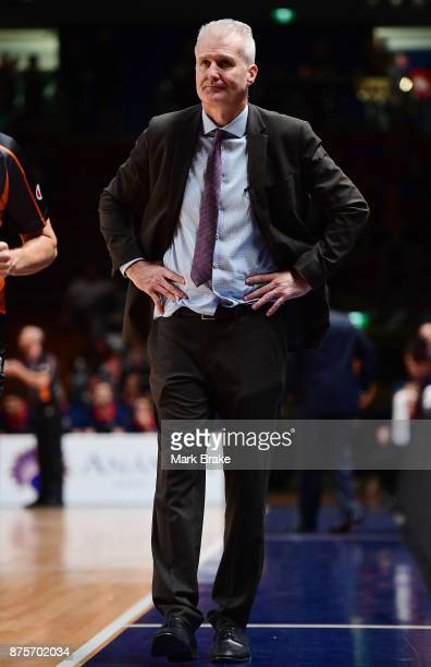 Andrew Gaze coach of the 36ers during the round seven NBL match between Adelaide 36ers and the Sydney Kings at Titanium Security Arena on November 18...