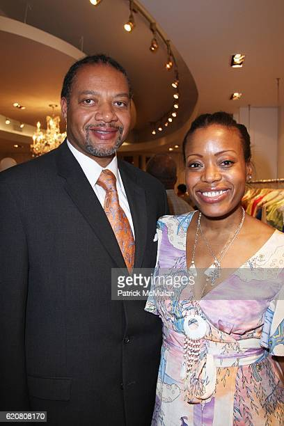 Andrew Givens and Tracy Reese attend TRACY REESE Secret Garden Party at Tracy Reese Boutique on March 27 2008 in New York City