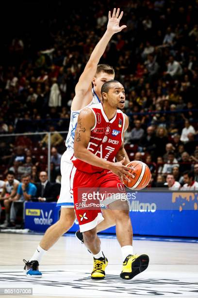 Andrew Goudelock drives to the basket during a basketball game of Poste Mobile Lega Basket A between EA7 Emporio Armani Milano vs Happy Casa Brindisi...