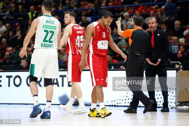 Andrew Goudelock during a game of Turkish Airlines EuroLeague basketball between AX Armani Exchange Milan vs Zalgiris Kaunas at Mediolanum Forum on...