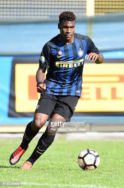 Andrew Gravillon of FC Internazionale Primavera in action during the Primavera Tim juvenile match between FC Internazionale and Pisa at Stadio Breda...