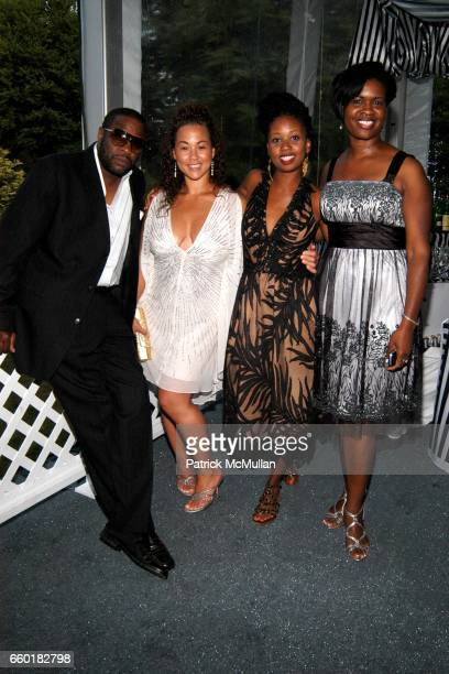 Andrew Guest Mica Eades Folake Alogunja and Makeda Murray attend RUSSELL SIMMONS Celebrates the 10th Anniversary of ART FOR LIFE at Private Residance...
