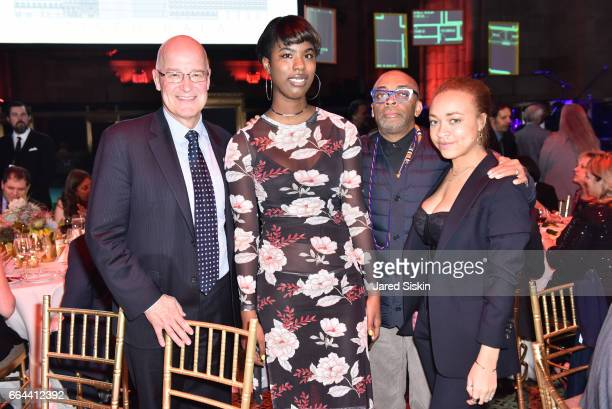 Andrew Hamilton Jacarea Garraway Spike Lee and Satchell Lee attend the Tisch School Gala 2017 at Cipriani 42nd Street on April 3 2017 in New York City