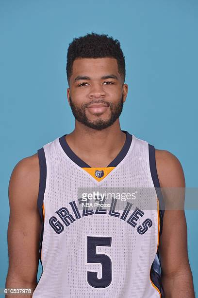 Andrew Harrison of the Memphis Grizzlies poses for a head shot during the 20162017 Memphis Grizzlies Media Day on September 26 2016 at FedExForum in...