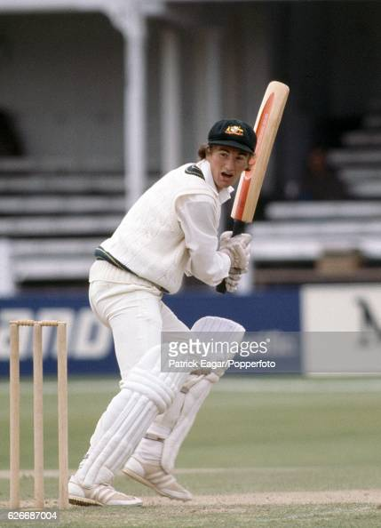 Andrew Hilditch batting for Australia during the Prudential World Cup match between Australia and Pakistan at Trent Bridge Nottingham 13th June 1979...