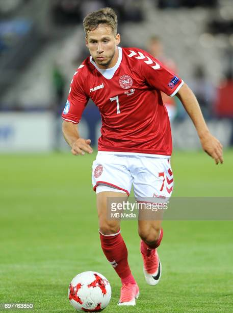 Andrew Hjulsager during the UEFA European Under21 match between Denmark and Italy at Cracovia stadium on June 18 2017 in Krakow Poland