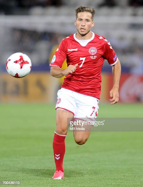 Andrew Hjulsager during the UEFA European Under21 match between Germany and Denmark at Cracovia Stadium on June 21 2017 in Krakow Poland