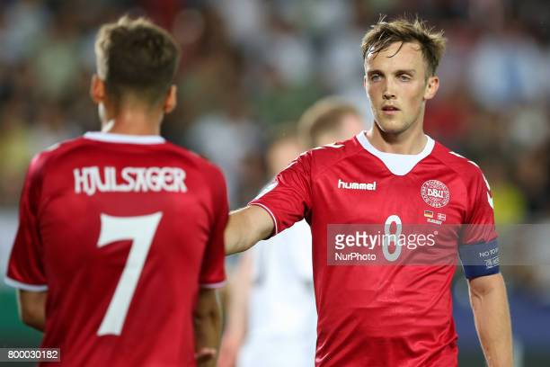 Andrew Hjulsager Lasse Vigen Christensen during the UEFA European Under21 Championship Group C match between Germany and Denmark at Krakow Stadium on...