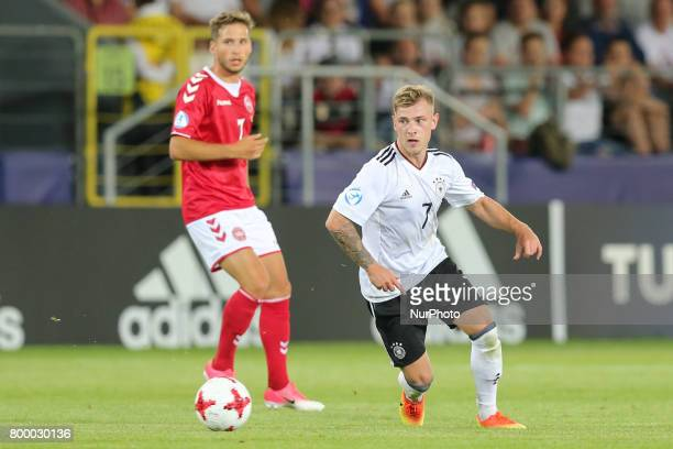 Andrew Hjulsager Max Meyer during the UEFA European Under21 Championship Group C match between Germany and Denmark at Krakow Stadium on June 21 2017...