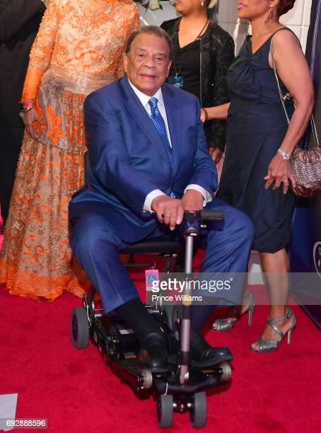 Andrew J Young attends the 2017 Andrew Young International Leadership awards and 85th Birthday tribute at Philips Arena on June 3 2017 in Atlanta...