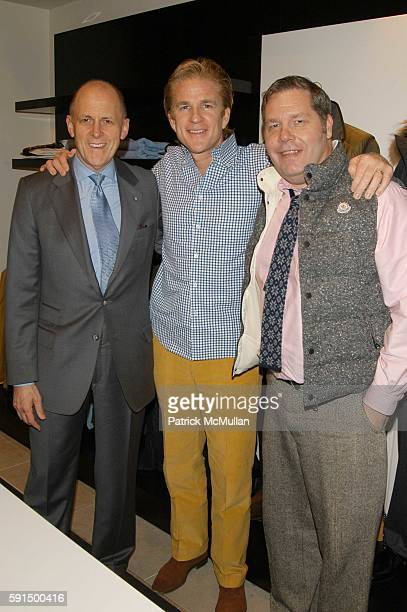 Andrew Jennings Matthew Modine and Michael Macko attend At the David Chu shop at Saks to celebrate Matthew Modine's 'Full Metal Jacket Diary' at...
