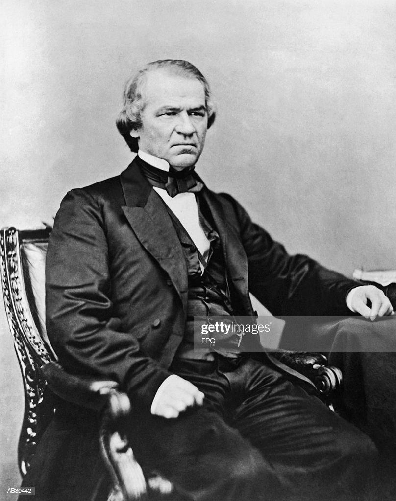 Andrew Johnson, portrait (B&W) : Stock Photo