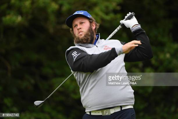 Andrew Johnston of England hits his tee shot on the 5th tee during the first round of the 146th Open Championship at Royal Birkdale on July 20 2017...