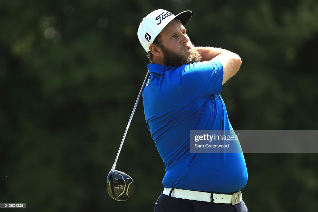 <a gi-track='captionPersonalityLinkClicked' href=/galleries/search?phrase=Andrew+Johnston+-+Golfer&family=editorial&specificpeople=15823456 ng-click='$event.stopPropagation()'>Andrew Johnston</a> of England hits off the sixth tee during the first round of the World Golf Championships - Bridgestone Invitational at Firestone Country Club South Course on June 30, 2016 in Akron, Ohio.