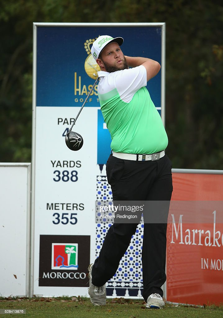 Andrew Johnston of England in action during the first round of the Trophee Hassan II at Royal Golf Dar Es Salam on May 5, 2016 in Rabat, Morocco.