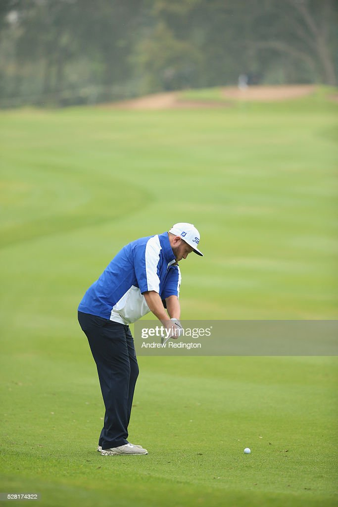 Andrew Johnston of England in action during the Pro Am prior to the start of the Trophee Hassan II at Royal Golf Dar Es Salam on May 4, 2016 in Rabat, Morocco.