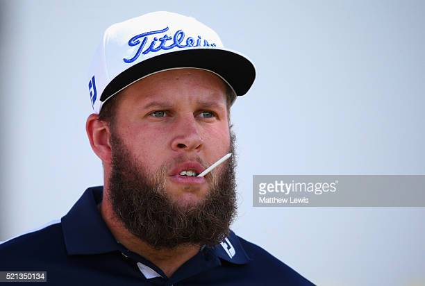 Andrew Johnston of England looks on during day two of the Open de Espana at Real Club Valderrama on April 15 2016 in Sotogrande Spain
