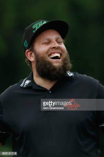 Andrew Johnston of England on the course during a practice round prior to the 2017 PGA Championship at Quail Hollow Club on August 9 2017 in...