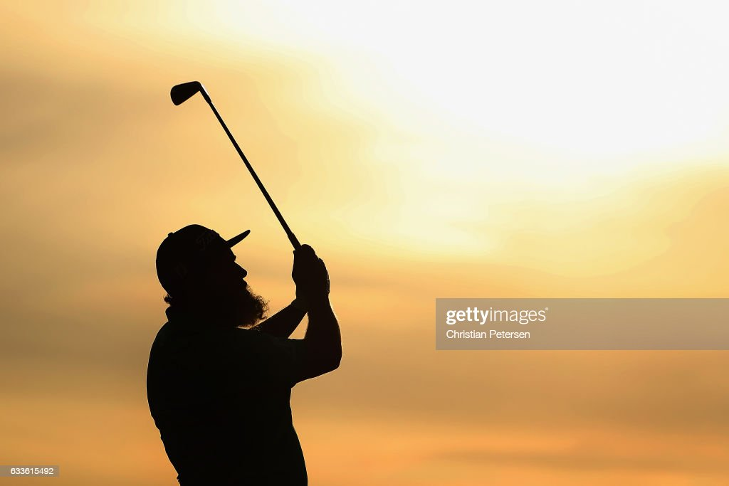 Andrew Johnston of England plays a tee shot on the fourth hole during the first round of the Waste Management Phoenix Open at TPC Scottsdale on February 2, 2017 in Scottsdale, Arizona.