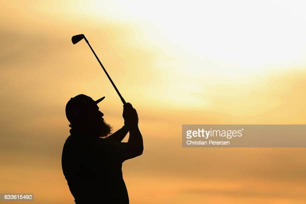 Andrew Johnston of England plays a tee shot on the fourth hole during the first round of the Waste Management Phoenix Open at TPC Scottsdale on...