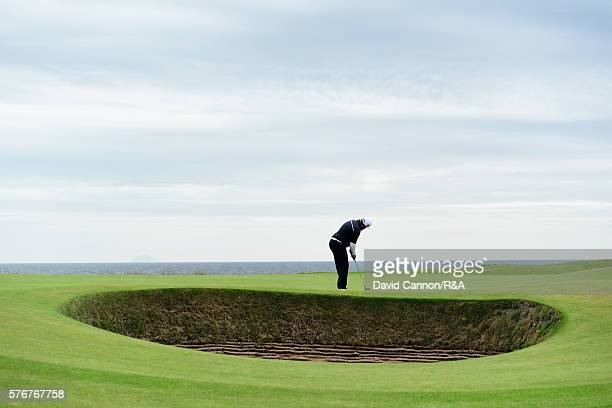 Andrew Johnston of England putts during the final round on day four of the 145th Open Championship at Royal Troon on July 17 2016 in Troon Scotland