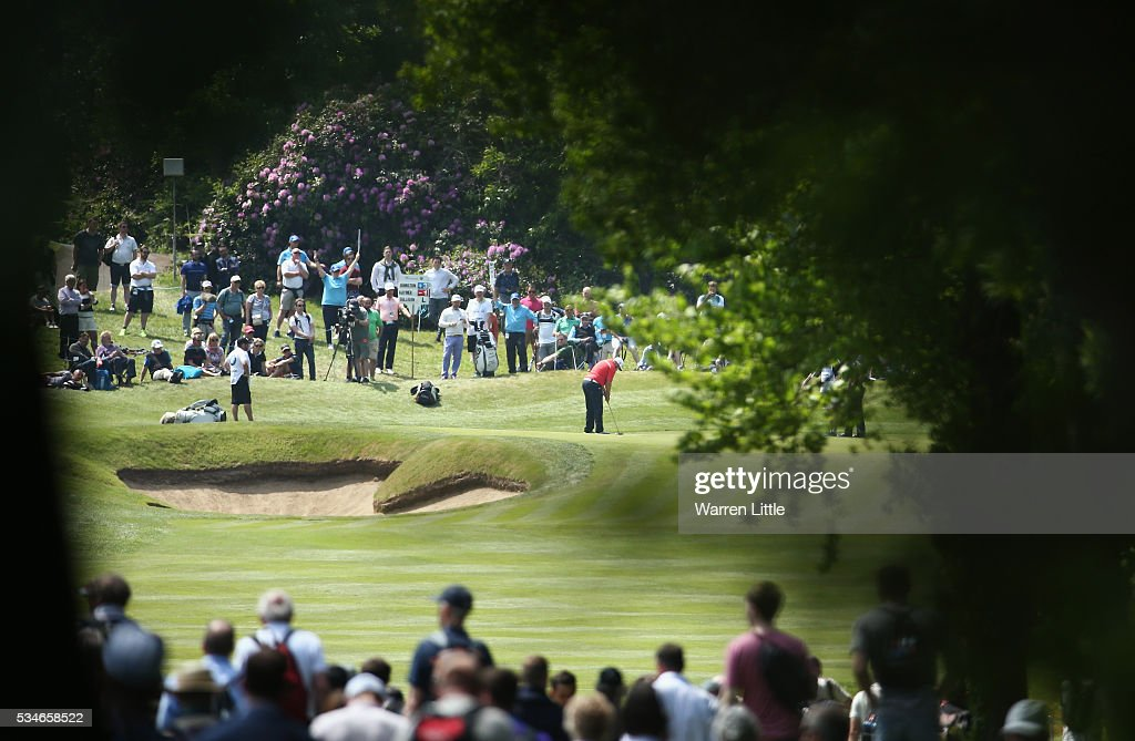<a gi-track='captionPersonalityLinkClicked' href=/galleries/search?phrase=Andrew+Johnston+-+Golfer&family=editorial&specificpeople=15823456 ng-click='$event.stopPropagation()'>Andrew Johnston</a> of England putts on the 3rd green during day two of the BMW PGA Championship at Wentworth on May 27, 2016 in Virginia Water, England.