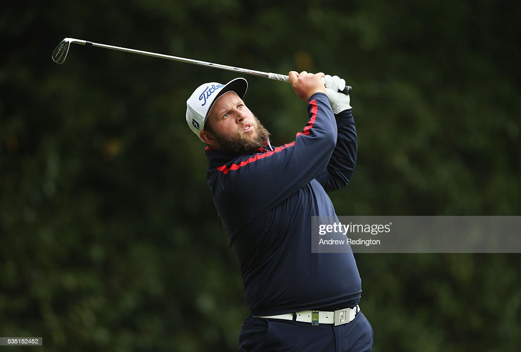 <a gi-track='captionPersonalityLinkClicked' href=/galleries/search?phrase=Andrew+Johnston+-+Golfer&family=editorial&specificpeople=15823456 ng-click='$event.stopPropagation()'>Andrew Johnston</a> of England tees off on the 2nd hole during day four of the BMW PGA Championship at Wentworth on May 29, 2016 in Virginia Water, England.