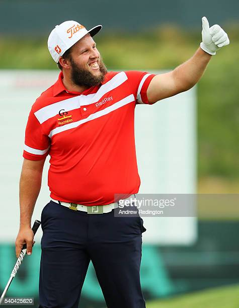 Andrew Johnston of England walks across a green during a practice round prior to the US Open at Oakmont Country Club on June 15 2016 in Oakmont...
