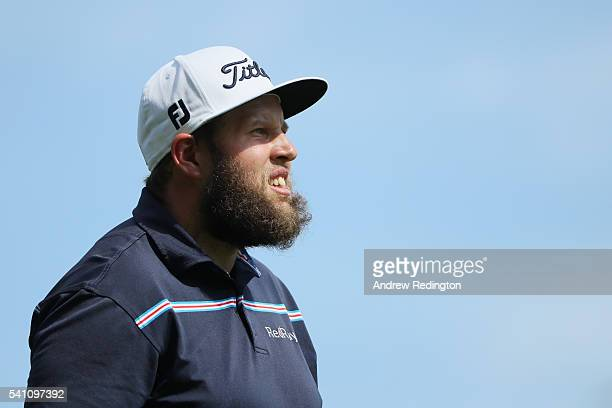 Andrew Johnston of England walks off a tee box during the third round of the US Open at Oakmont Country Club on June 18 2016 in Oakmont Pennsylvania