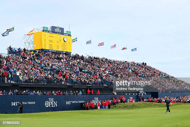 Andrew Johnston of England walks on the on the 18th hole during the final round on day four of the 145th Open Championship at Royal Troon on July 17...
