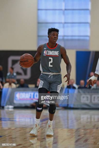 Andrew Jones dribbles the ball during the NBA Draft Combine at the Quest Multisport Center on May 11 2017 in Chicago Illinois NOTE TO USER User...