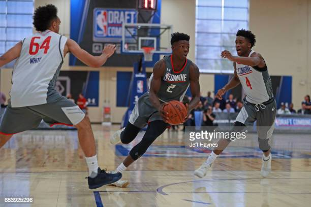 Andrew Jones drives to the basket during the NBA Draft Combine Day 2 at the Quest Multisport Center on May 12 2017 in Chicago Illinois NOTE TO USER...