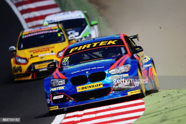Andrew Jordan of BMW Pirtek Racing drives during the Dunlop MSA British Touring Car Championship at Brands Hatch on April 2 2017 in Longfield England