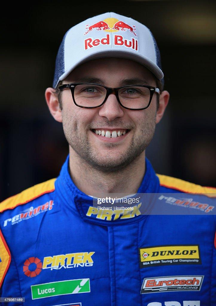 Andrew Jordan of Pirtek Racing during the 2014 Dunlop MSA British Touring Car Championship media day at Donington Park on March 18, 2014 in Castle Donington, England.