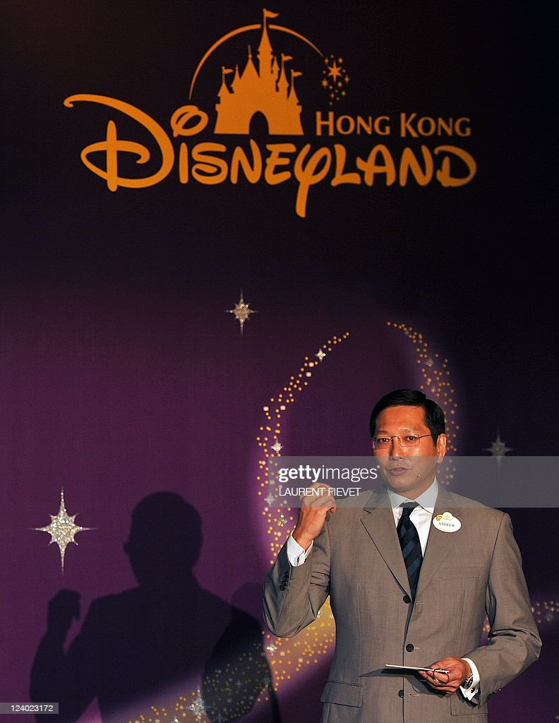 Andrew Kam, managing director of Hong Kong Disneyland, speaks to journalists during a press conference to launch the Toy Story Land attraction in Hong Kong September 8, 2011. Hong Kong Disneyland, which has been struggling to attract visitors, said its Shanghai counterpart was not a threat as it prepares for the opening of a new attraction this year. The Toy Story Land, which is based on the popular animated film, is due to open in November.