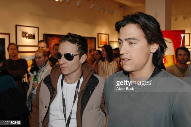 Andrew Keegan and guest during 2005 Sundance Film Festival Universal Studios at Images of Nature in Park City Utah United States