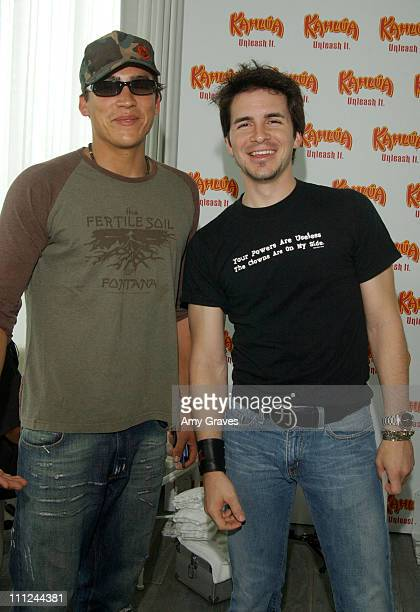 Andrew Keegan and Hal Sparks during The Kahlua Lounge Benefiting Dress for Success at The Viceroy Hotel in Santa Monica California United States
