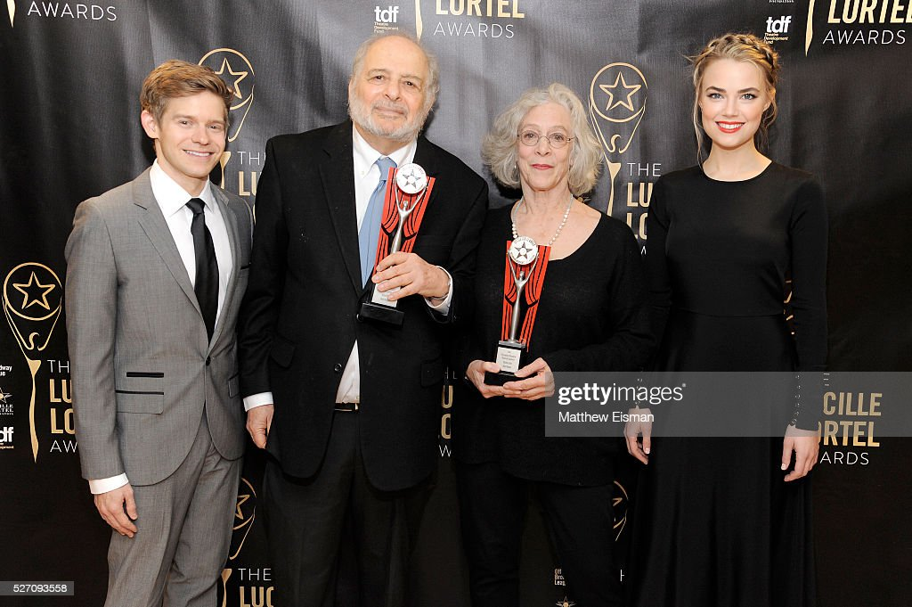 Andrew Keenan-Bolger, Alfred Uhry, Martha Clarke and Rebecca Rittenhouse attend the press room for the 31st Annual Lucille Lortel Awards at NYU Skirball Center on May 1, 2016 in New York City.