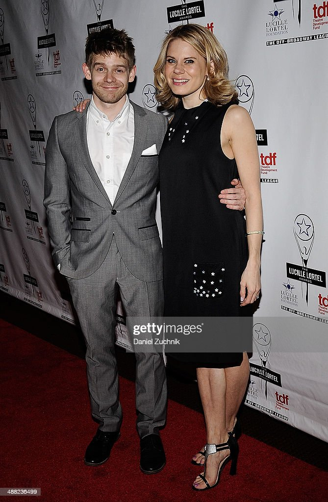Andrew Keenan-Bolger and Celia Keenan-Bolger attend the 29th Annual Lucille Lortel Awards at NYU Skirball Center on May 4, 2014 in New York City.