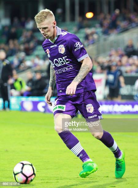 Andrew Keogh of the Glory during the round 26 ALeague match between the Perth Glory and Brisbane Roar at nib Stadium on April 8 2017 in Perth...