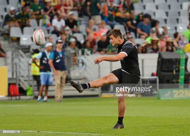 Andrew Knewstubb of New Zealand during the 2017 HSBC Cape Town Sevens Cup Final match between New Zealand and Argentina at Cape Town Stadium on...