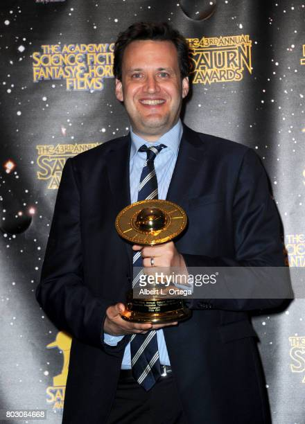Andrew Kreisberg poses in the press room at the 43rd Annual Saturn Awards at The Castaway on June 28 2017 in Burbank California