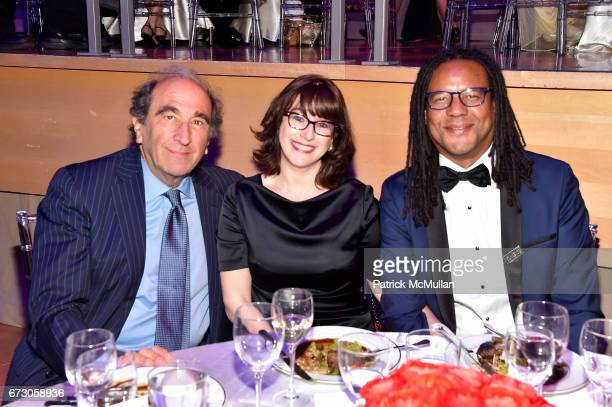Andrew Lack Julie Barer and Colson Whitehead attend the 2017 TIME 100 Gala at Jazz at Lincoln Center on April 25 2017 in New York City