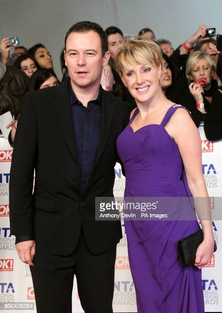 Andrew Lancel and Sally Dynevor during the 2012 NTA Awards at the O2 Greenwich London