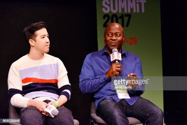 Andrew Law and Shawn Boxe attends Sloan Film Summit 2017 Day 3 on October 29 2017 in Los Angeles California