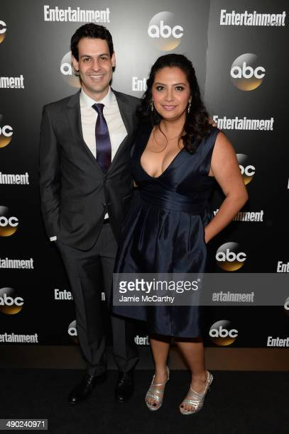 Andrew Leeds and Cristela Alonzo attend the Entertainment Weekly ABC Upfronts Party at Toro on May 13 2014 in New York City