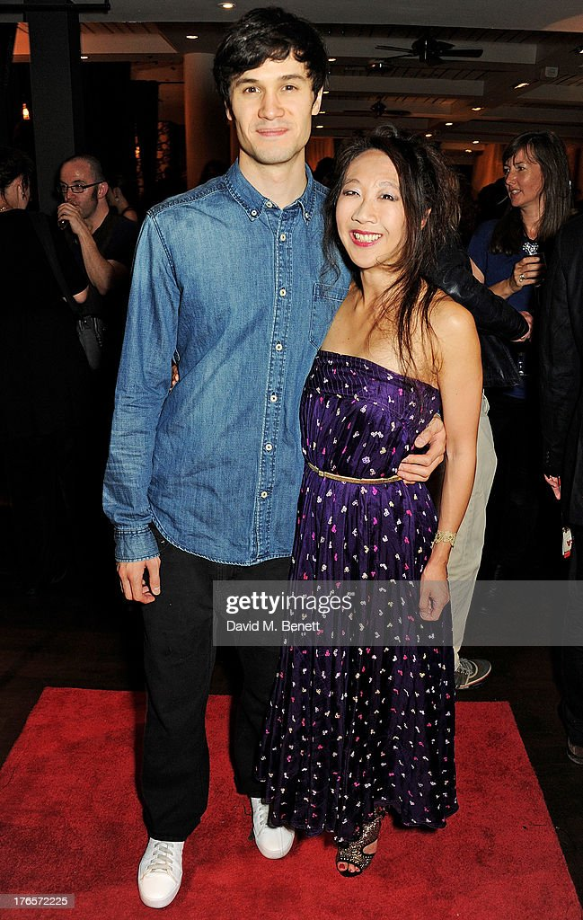 Andrew Leung and Elizabeth Chan attend an after party following the press night performance of 'Chimerica' at Grace Restaurant on August 15 2013 in...